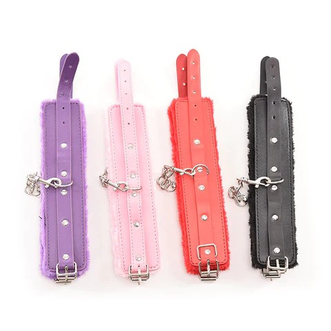 1 pair pu leather kinky sexy bedroom restraints 'handcuff' – truly