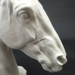 Thoroughbred Horse Head Marble Sculpture Cooper Woodhouse
