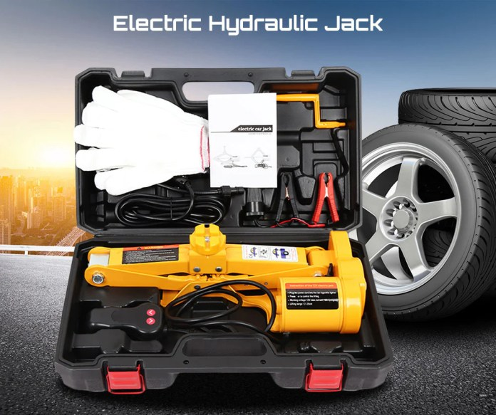 auto electric hydraulic car jack lift tire repair tool auto lifting