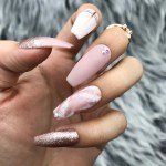 Handmade Love Affair Rose Gold Foil Ombre Matte Pink Marble W Bling The Nailest