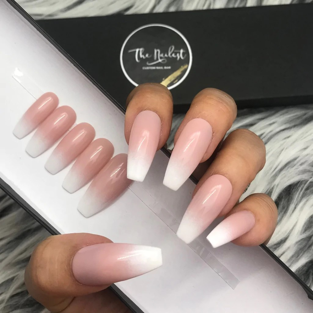 Ombre Toe Nails Pink And White   Novocom.top