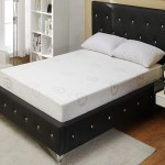 Black Modern Crystal Tufted Bed With Upholstered Headboard Simply Home Life