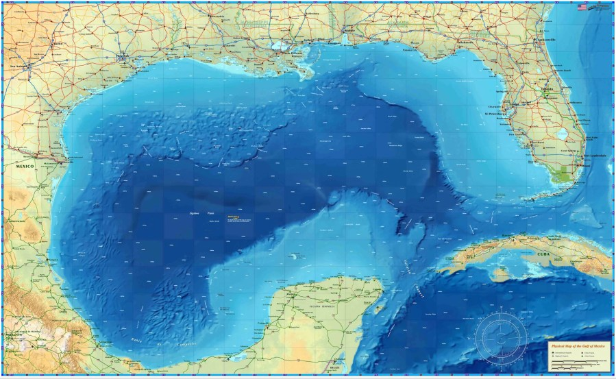 Gulf of Mexico Map     Houston Map Company Gulf of Mexico Map
