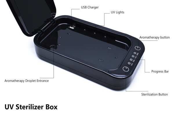Lexuma XGerm multi functional phone UV sanitizer rescue from potential diseases anti-virus antibacterial for phone watch rings keys other personal things functions navigation