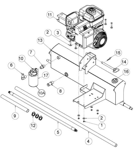 Speeco 28 Ton Log Splitter Parts Diagram 401628BB – Foards
