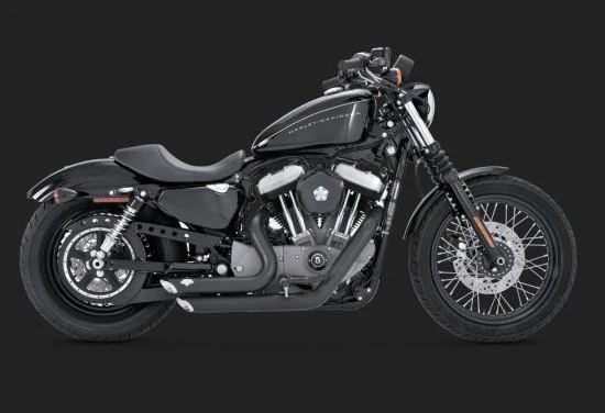 vance hines shortshots staggered full exhaust system for 2004 2013 harley davidson sportster