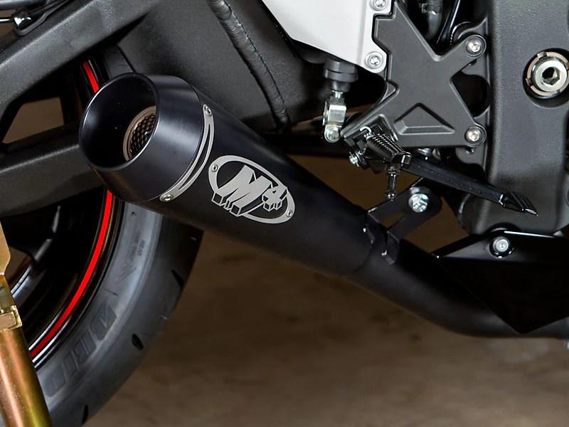 m4 gp black slip on exhaust system 11 15 kawasaki zx10r motostarz usa