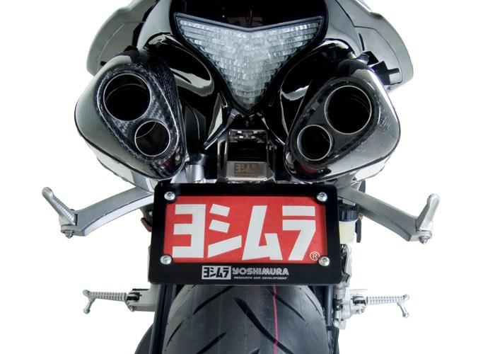 yoshimura street trc d dual exhaust slip on system 09 14 yamaha yzf r1