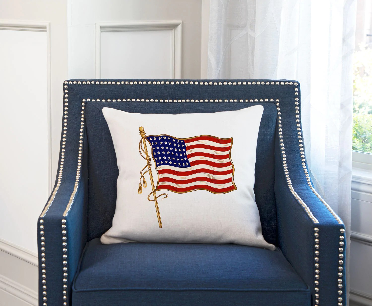vintage american flag 48 stars pillow cover decorative designs throw pillow cover collection