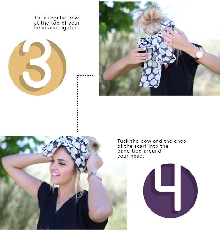 How To Tie A Head Scarf 3 4