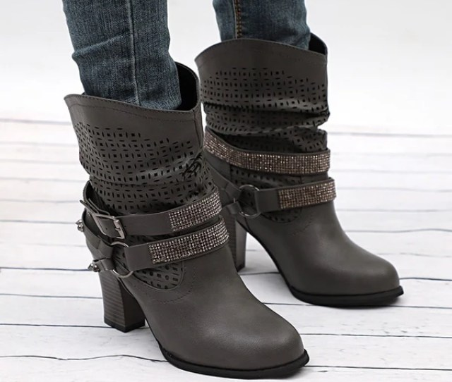 Womens Fashion Cowboy Boots Womens Ankle Boots Low Heel Ankle Boots Vinnys Digital