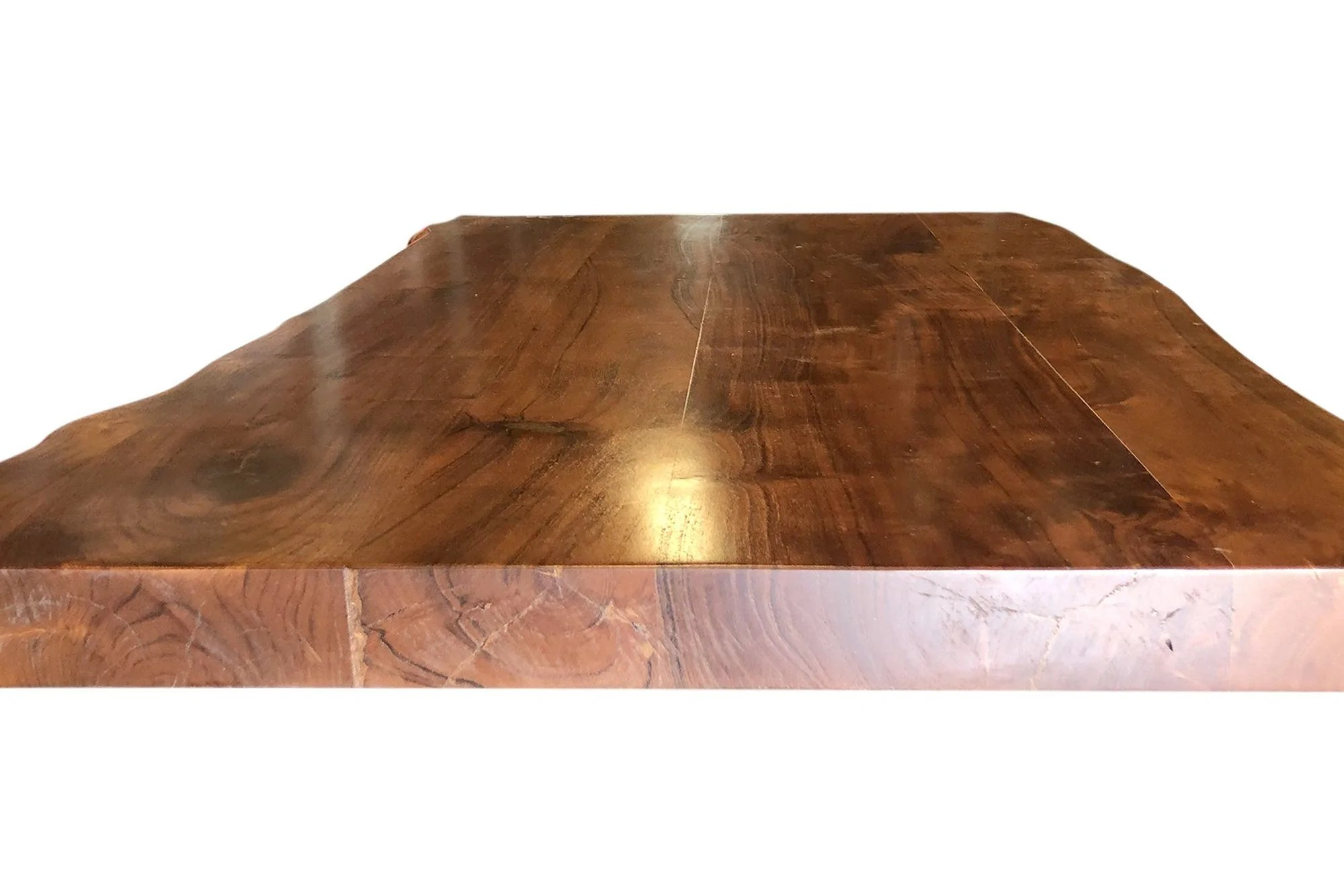 solid wood live edge coffee table top desk pub dining tabletop 48