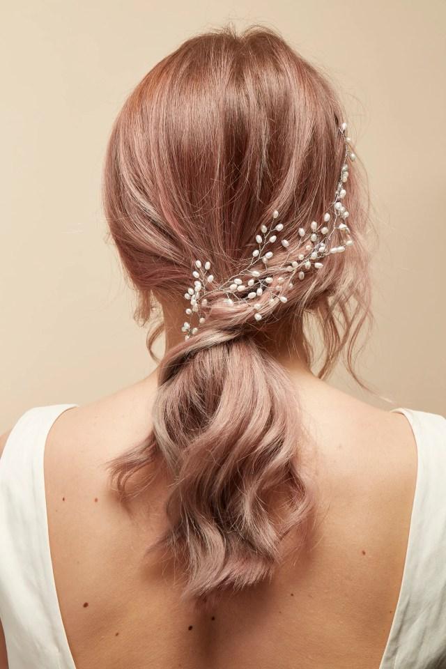 pearl wedding hair vine | bridal hair piece — by jodie bijoux