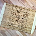 Marin County Map Large Bamboo Cutting Board Gooseberry Designs