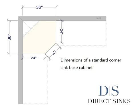 biggest sink for a corner sink base