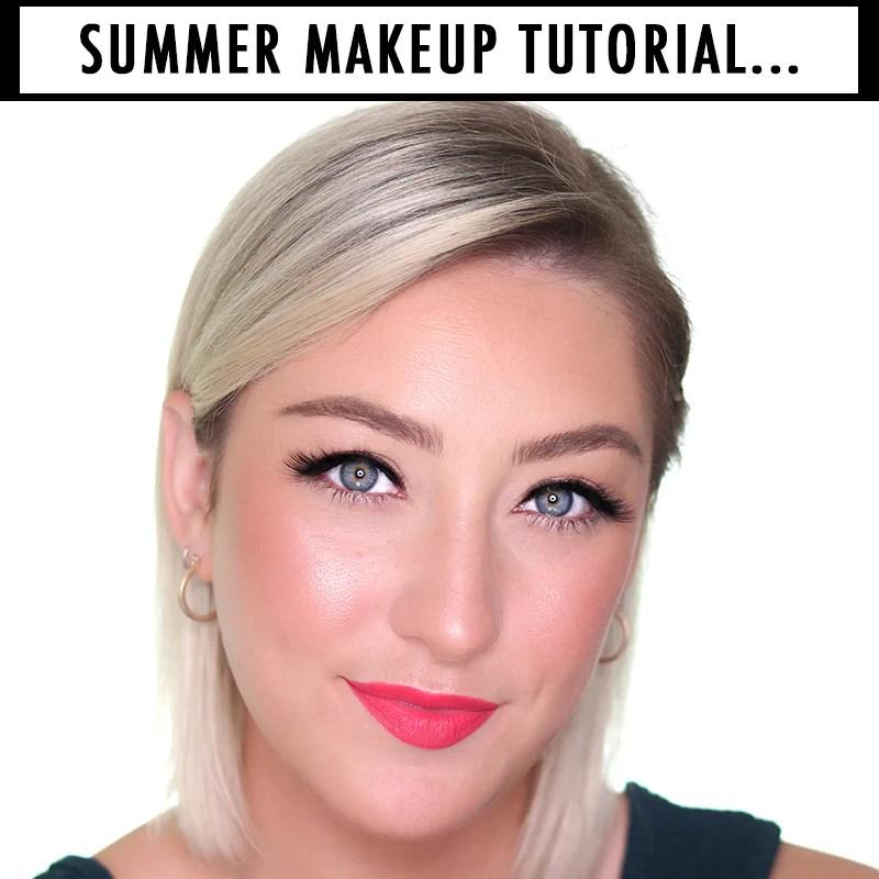 No Foundation Summer Makeup Look