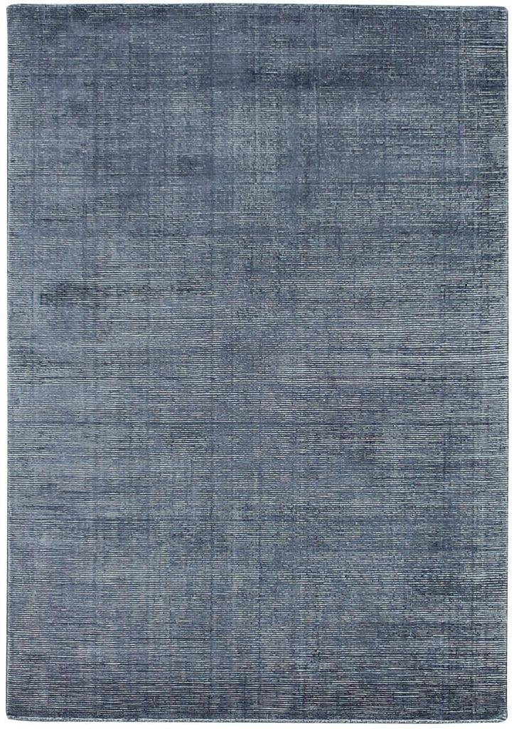 Kalaiya Indigo Distressed Wool Blend Rug