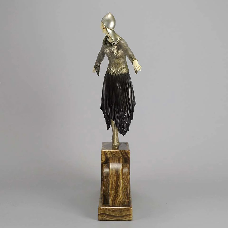 D Marble Ivory H Bronze Chiparus Base