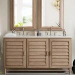 60 Portland Whitewashed Walnut Double Bathroom Vanity
