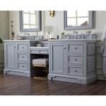 94 De Soto Silver Gray Double Sink Bathroom Vanity