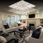 Square Low Ceiling Raindrop Crystal Chandelier Ceiling Light Sofary