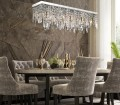 Dining Room Rectangular Crystal Chandelier With Linear Design Sofary