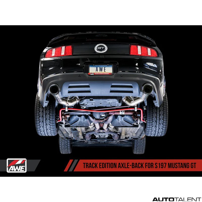 awe tuning track edition axle back exhaust system ford mustang gt s197 2011 2014