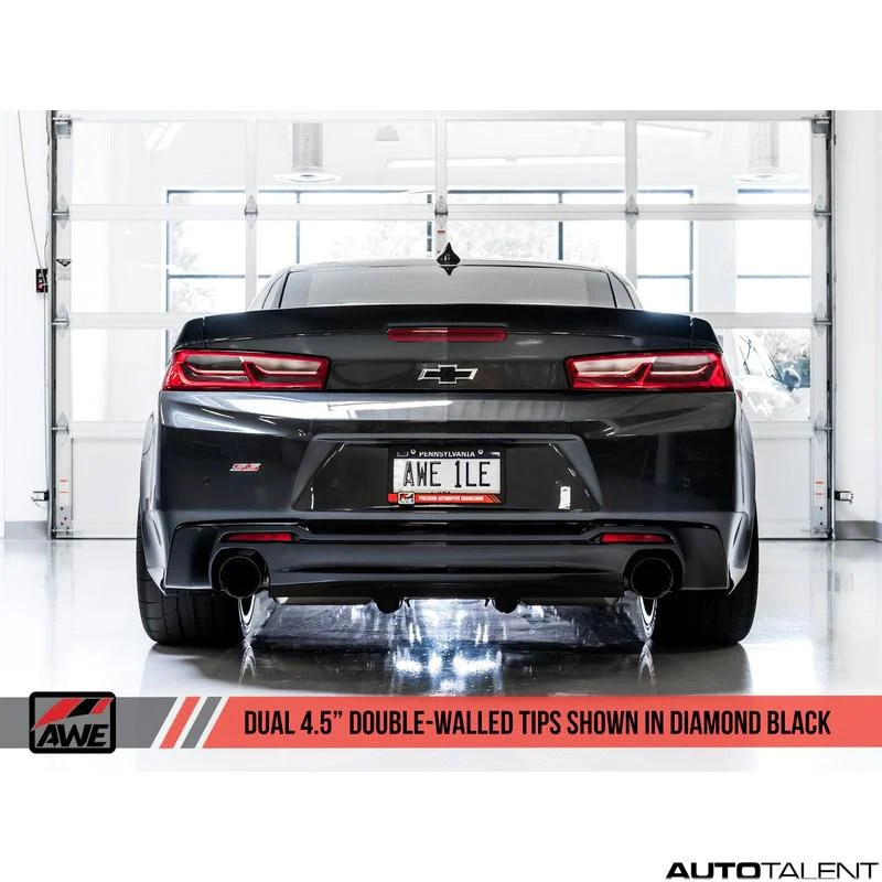 awe tuning touring edition axle back exhaust chevrolet camaro ss gen6 2016 2021