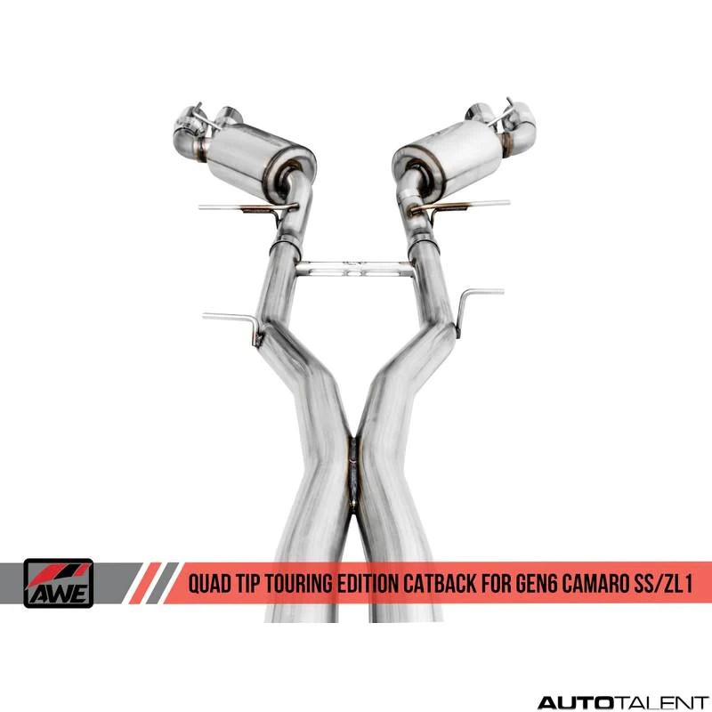 awe tuning touring edition cat back exhaust system chevrolet camaro ss zl1 gen6 2016 2021