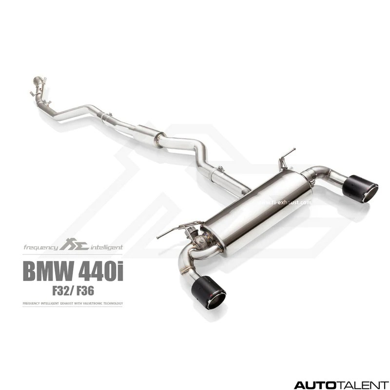 fi exhaust valvetronic cat back system for bmw f32 440i 2014 2018