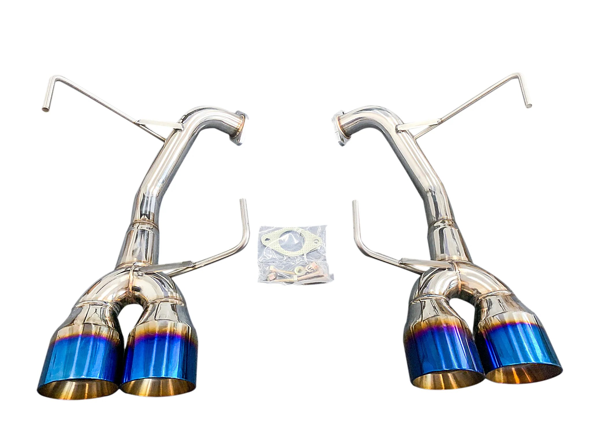 cnt racing v3 muffler delete axleback quad tip exhaust systems blue tips 4 inch tips for 2015 2019 wrx 2015 2018 sti