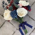 Burgundy Navy And Blush Bouquet Pineandpetalweddings