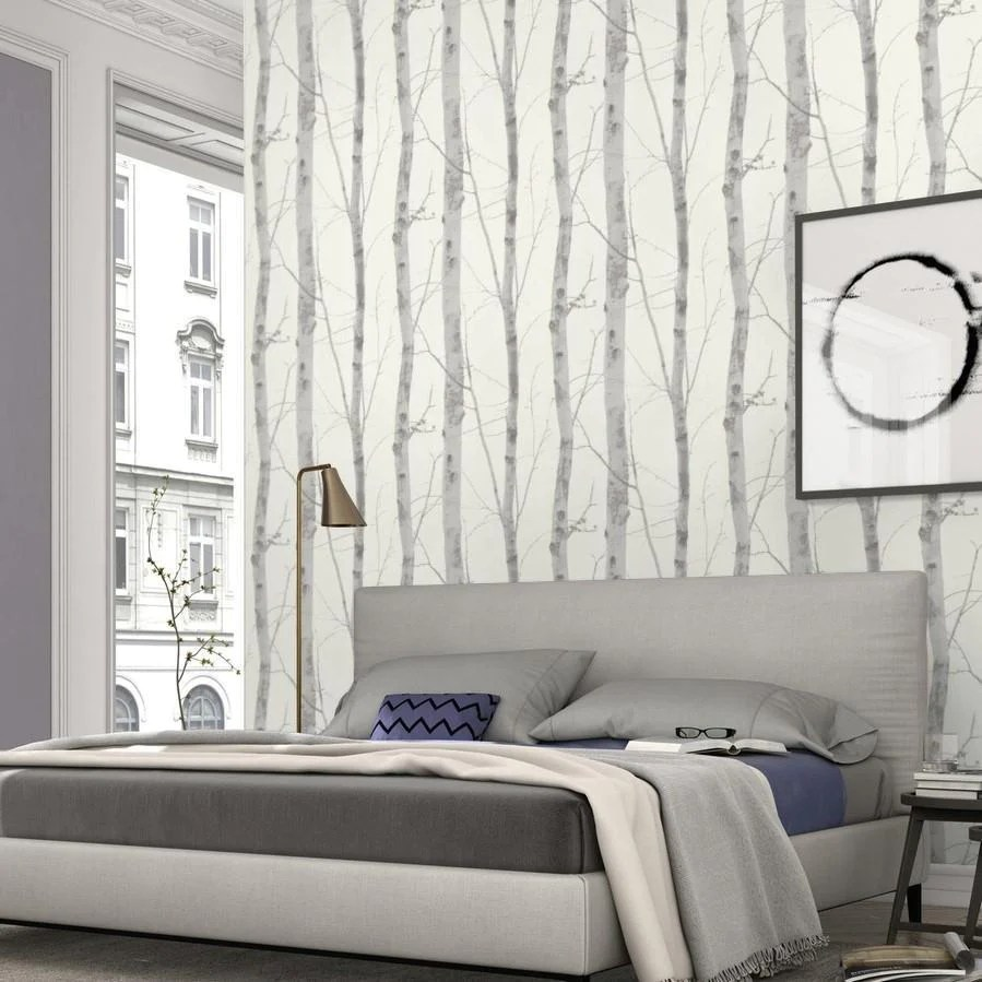 Paradisio White And Grey Birch Tree Wallpaper By Erismann