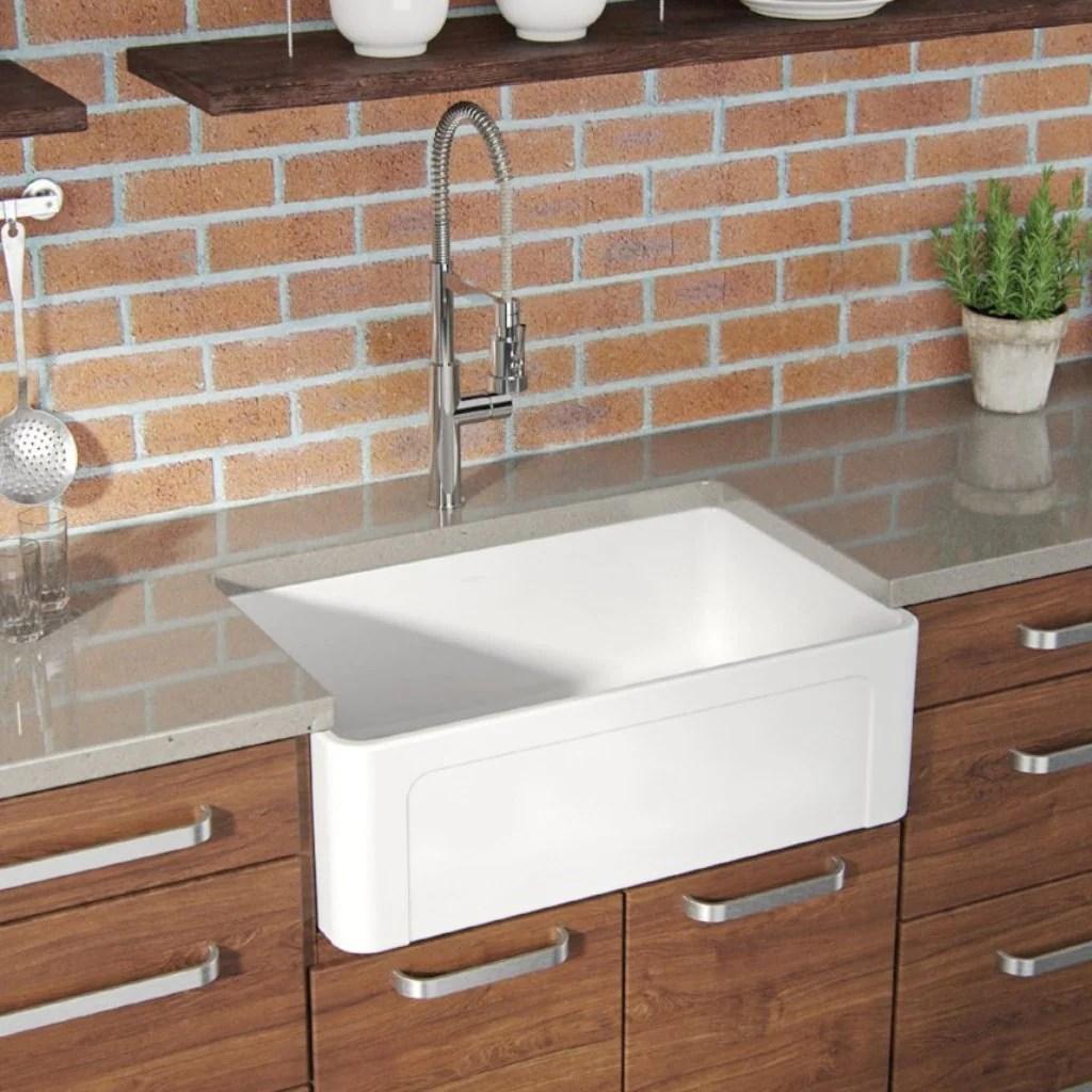 latoscana 30 fireclay single bowl reversible farmhouse apron sink white ltw3019w