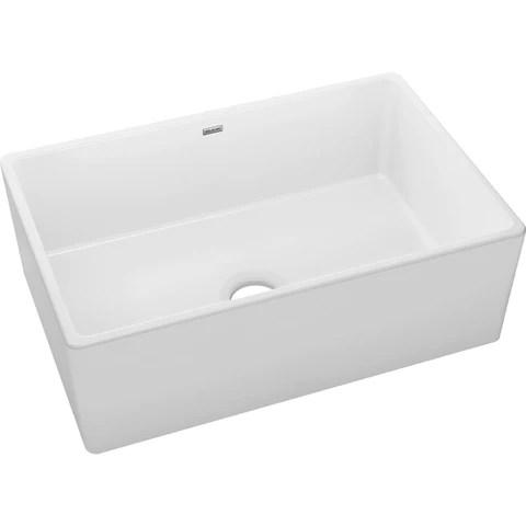 elkay 30 fireclay farmhouse kitchen sink white swuf28179wh
