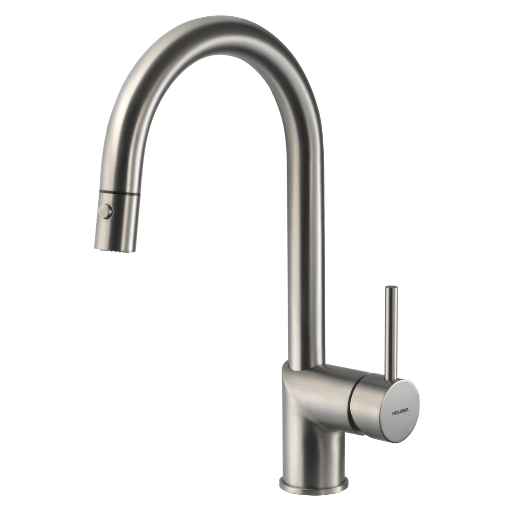 houzer vitale pull down kitchen faucet brushed nickel vitpd 668 bn