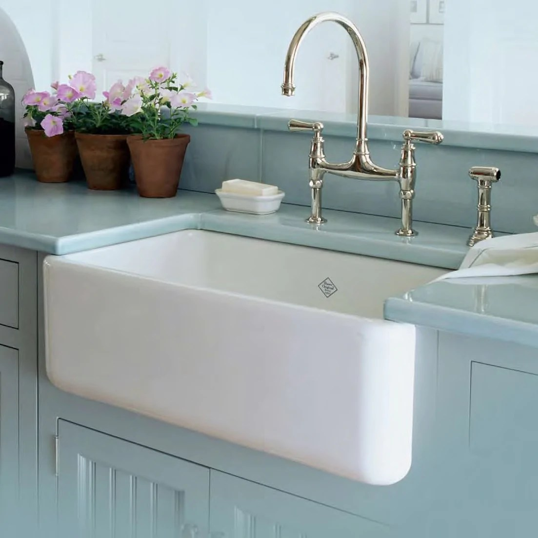 rohl shaws 30 fireclay single bowl thick farmhouse apron kitchen sink white rc3018wh
