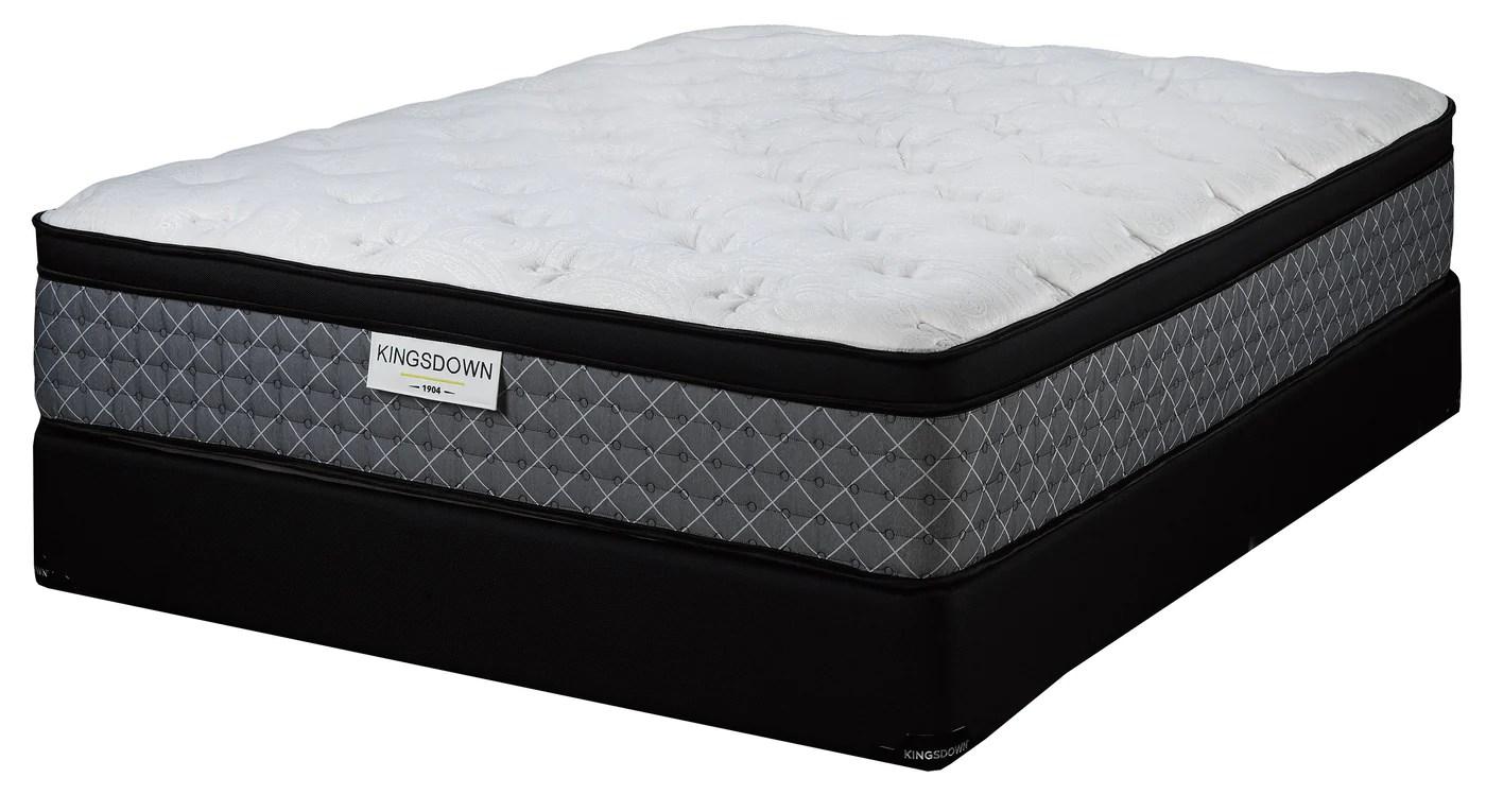 kingsdown dionne plush king mattress and split boxspring set