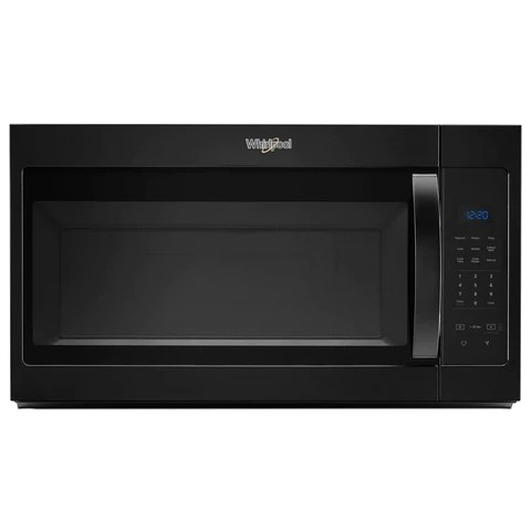 whirlpool black over the range microwave and hood combination 1 7 cu ft ywmh31017hb