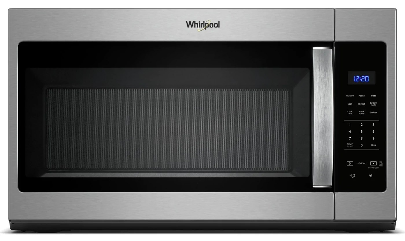whirlpool stainless steel over the range microwave and hood combination 1 7 cu ft ywmh31017hs