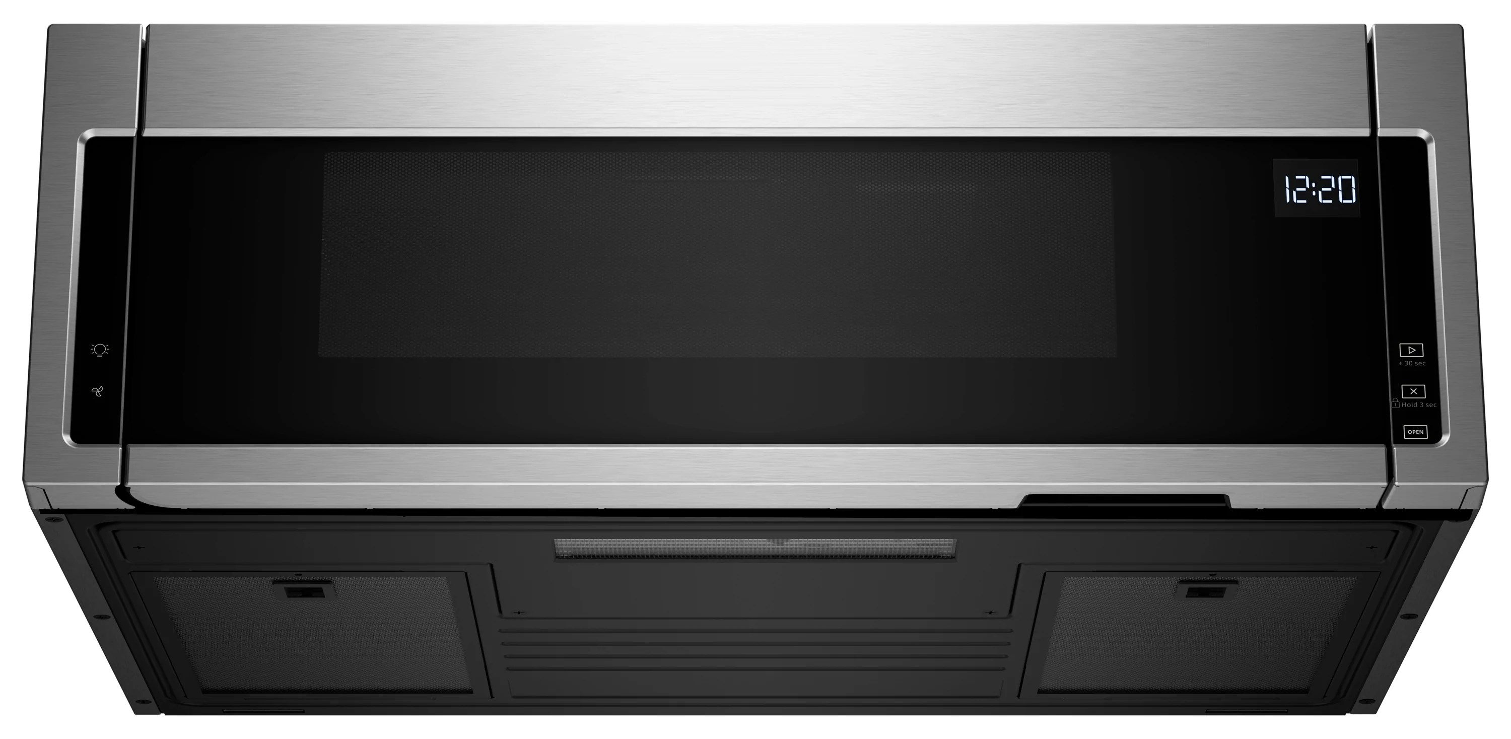 whirlpool stainless steel over the range microwave and hood combination 1 1 cu ft ywml55011hs
