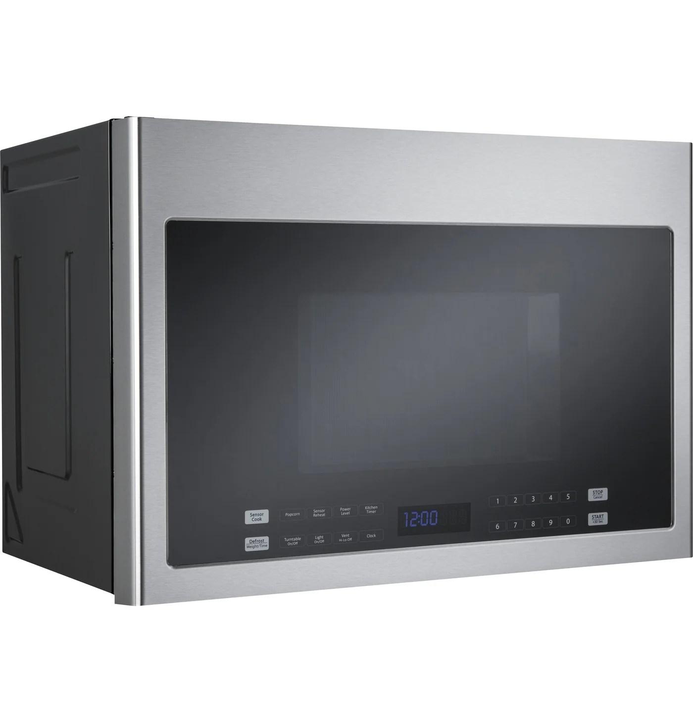 haier 24 inch stainless steel over the range microwave 1 4 cu ft hmv1472bhs