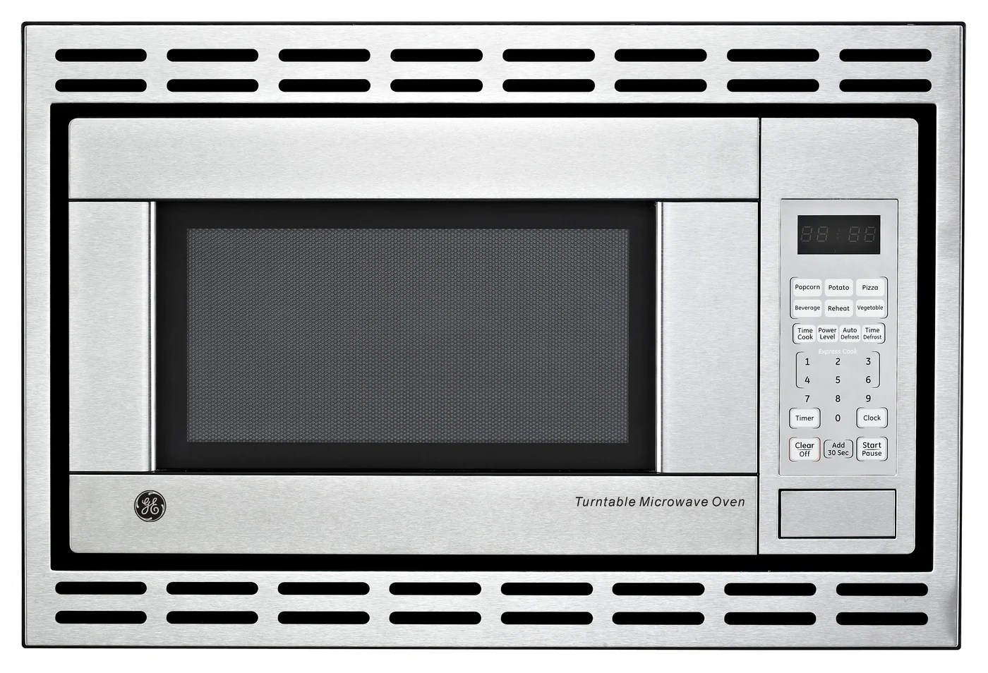 ge stainless steel built in microwave 1 1 cu ft je1140stc