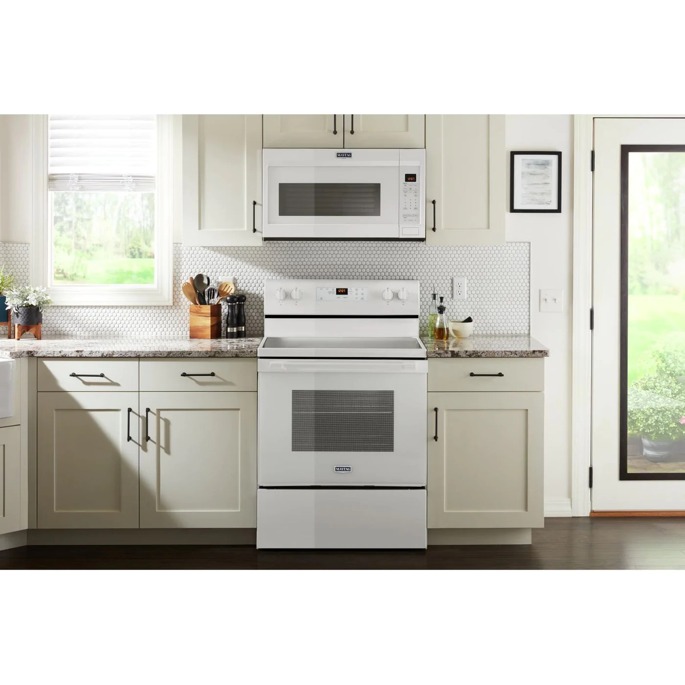 maytag white over the range microwave 1 9 cu ft ymmv4207jw