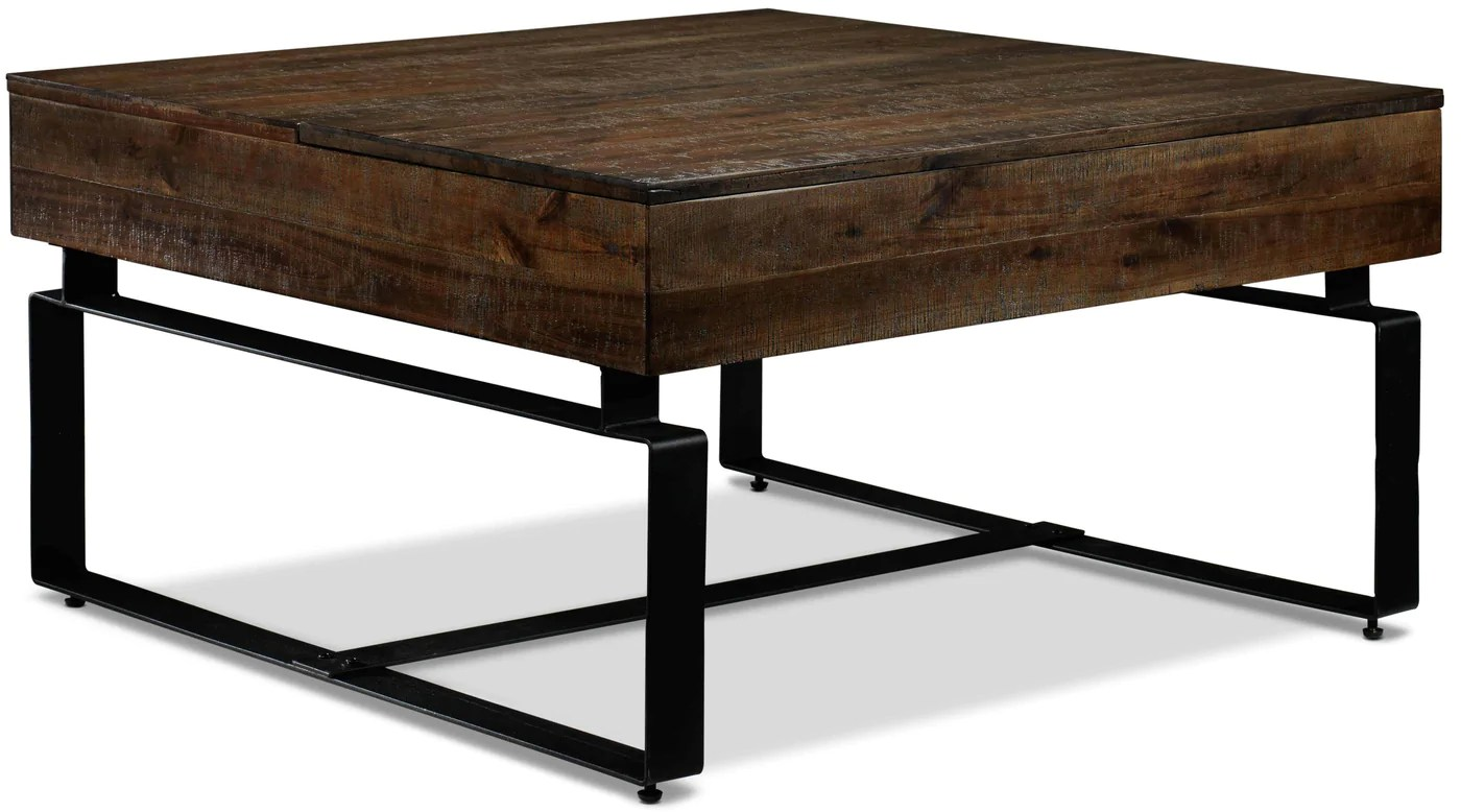 lincoln lift top coffee table walnut