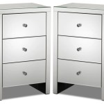 Illusion Set Of 2 Night Tables Mirrored Glass Leon S