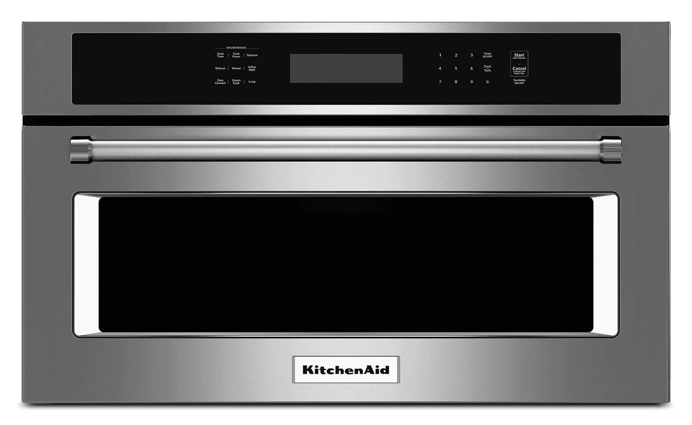 kitchenaid stainless steel convection microwave 1 4 cu ft kmbp100es
