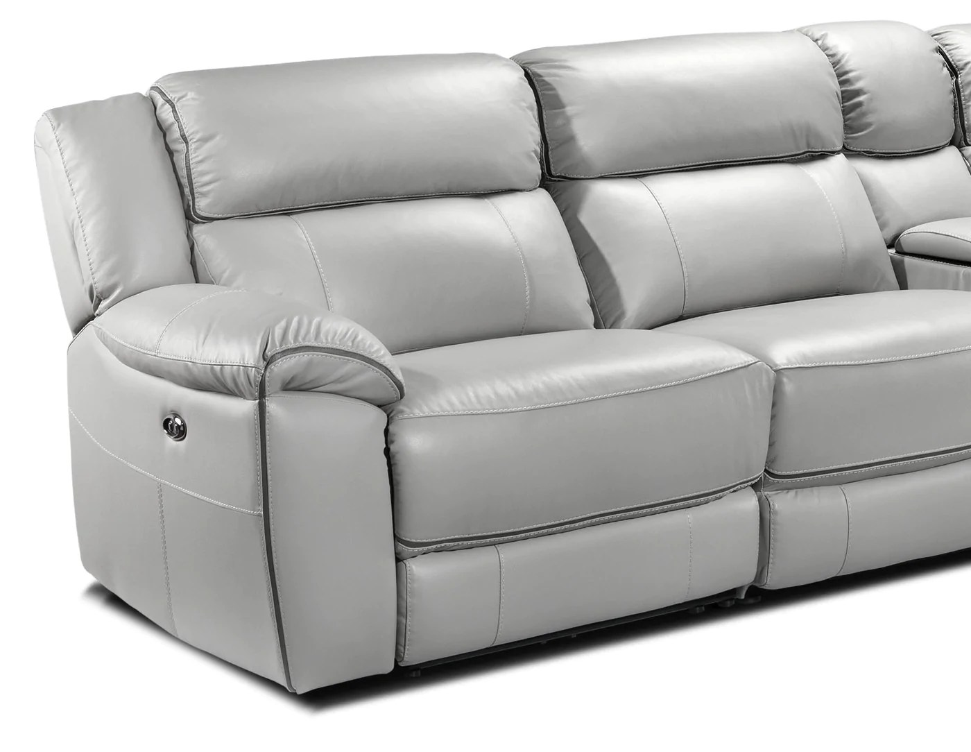 holton 4 piece sectional with right facing chaise grey