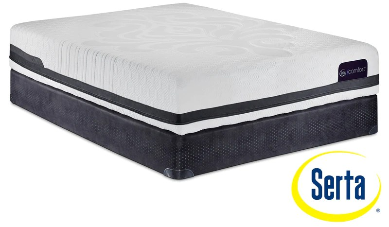serta icomfort eco peacefulness plush queen mattress and boxspring set
