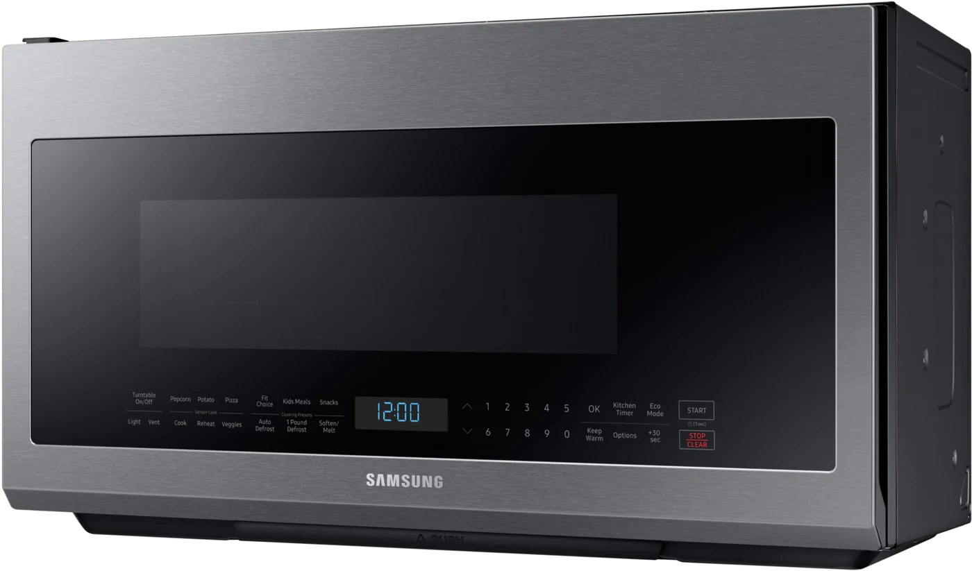 samsung stainless steel over the range microwave 2 1 cu ft me21m706bas ac